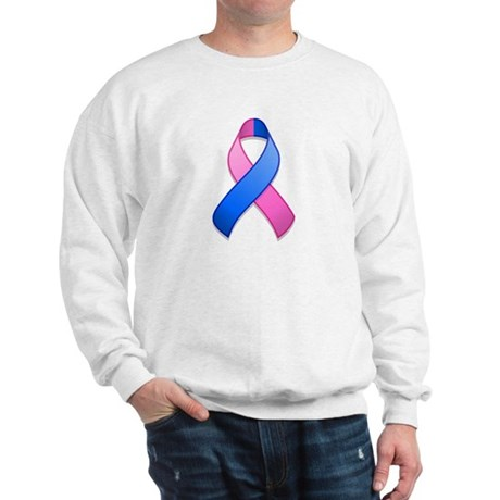 Blue and Pink Awareness Ribbon Sweatshirt