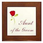 Red Groom's Aunt Framed Tile