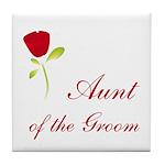 Red Groom's Aunt Tile Coaster