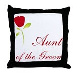 Red Groom's Aunt Throw Pillow
