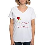 Red Groom's Aunt Women's V-Neck T-Shirt