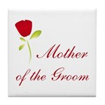 Red Groom's Mother Tile Coaster