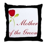 Red Groom's Mother Throw Pillow