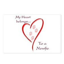 Newfie Heart Postcards (Package of 8)