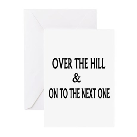 Over the Hill & Happy Greeting Cards (Pk of 10)