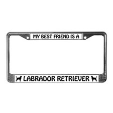 My Best Friend Is A Labrador License Frame (black)