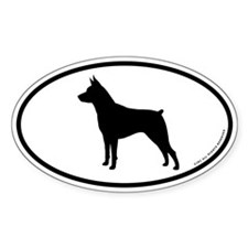 Miniature Pinscher Oval Decal