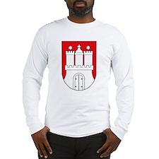 Hamburg Coat of Arms (small) Long Sleeve T-Shirt