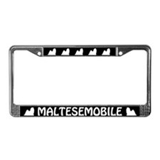 Maltesemobile License Plate Frame