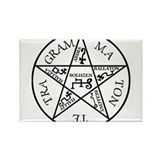 Black Pentagram of Solomon Rectangle Magnet (100 p