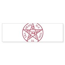 Red Pentagram of Solomon Bumper Bumper Sticker