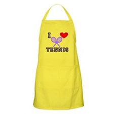 I Heart Tennis Light Blue BBQ Apron