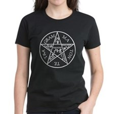 White Pentagram of Solomon Tee