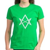 White Unicursal Hexagram Tee
