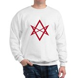 Red Unicursal Hexagram Sweater
