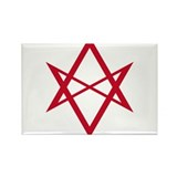 Red Unicursal Hexagram Rectangle Magnet (100 pack)