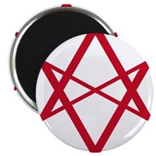 "Red Unicursal Hexagram 2.25"" Magnet (10 pack)"