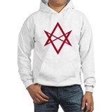Red Unicursal Hexagram Jumper Hoody