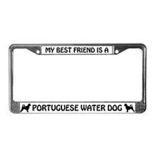 Portuguese Water Dog (friend) License Plate Frame