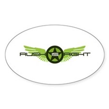 Rush is Right Wings Oval Decal