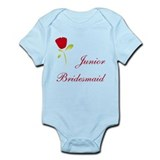 Red Junior Bridesmaid Onesie