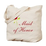 Red Maid of Honor Tote Bag