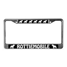 Rottiemobile License Plate Frame