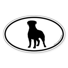 Rottweiler Oval Decal
