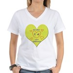 Hug your Kids Heart Women's V-Neck T-Shirt