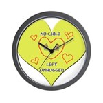 Hug your Kids Heart Wall Clock