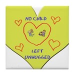 Hug your Kids Heart Tile Coaster
