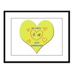 Hug your Kids Heart Large Framed Print