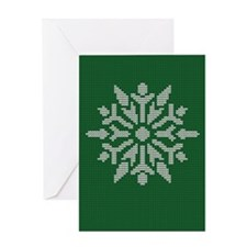 Knit Snowflake Greeting Card