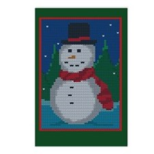 Knit Snowman Postcards (Package of 8)