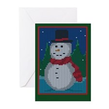 Knit Snowman Greeting Cards (Pk of 20)