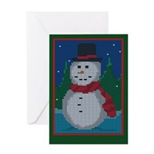 Knit Snowman Greeting Card