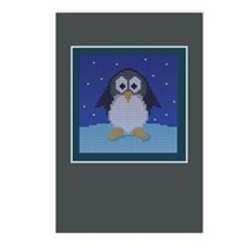 Knit Penguin Postcards (Package of 8)