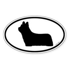 Skye Terrier Oval Decal