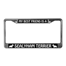 My Best Friend Is A Sealyham Terrier License Frame