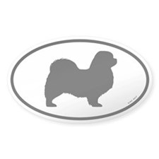 Tibetan Spaniel Oval Decal