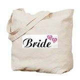 Bride Black Tote Bag