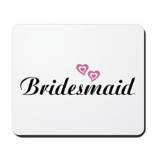 Bridesmaid Black Mousepad
