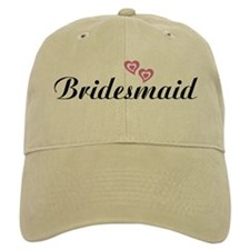 Bridesmaid Black Baseball Cap