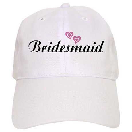 Bridesmaid Black Cap