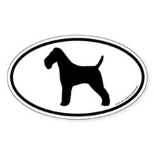 Wire Fox Terrier Oval Decal