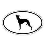 Whippet Oval Decal