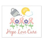 Flower Pink Ribbon Small Poster