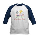 Flower Pink Ribbon Kids Baseball Jersey