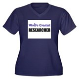Worlds Greatest RESEARCHER Women's Plus Size V-Nec