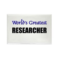 Worlds Greatest RESEARCHER Rectangle Magnet
